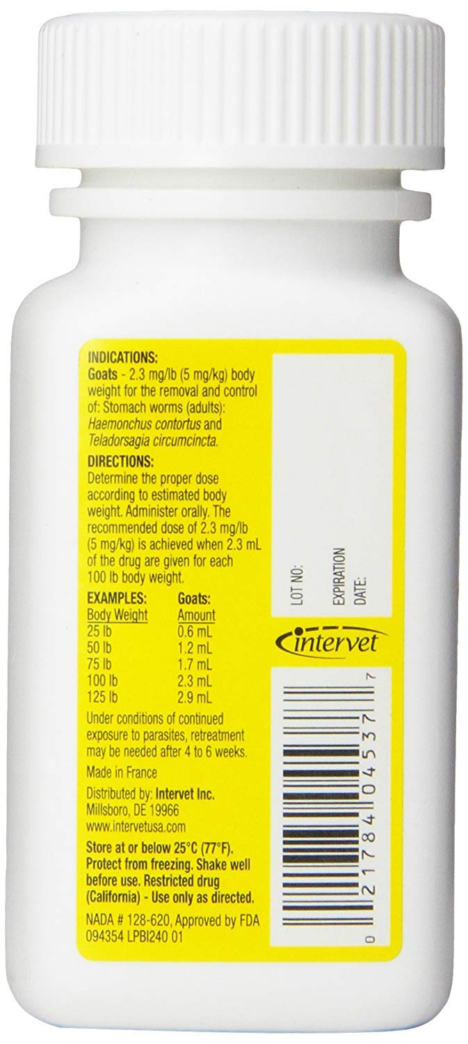 Merck Safeguard Goat Dewormer, 125ml - Pack of 3 by Durvet