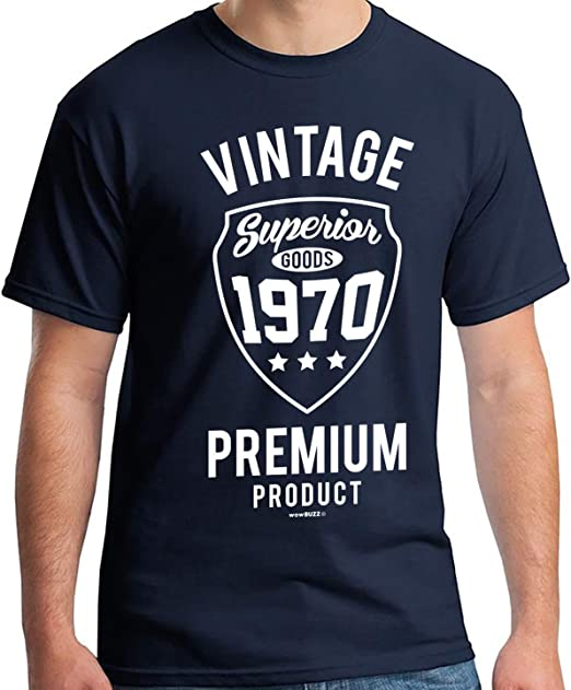 T-SHIRT MADE IN 68-1968 Anniversaire Cadeau Birthday Gift Date Naissance 60/'s