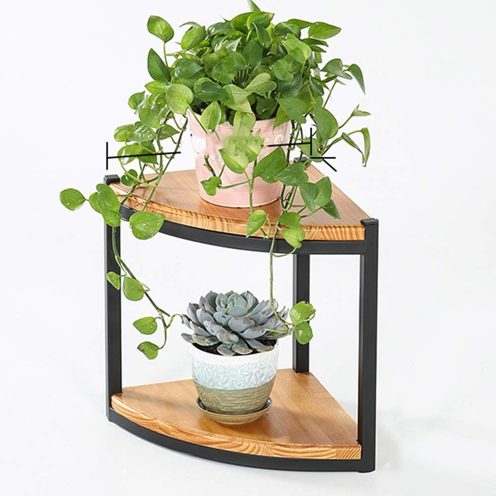 LJHA huajia Flower Stand, Iron Art Multi-Layer Home Multi-Function Living Room Wood Art Flower Stand (Size : 383030CM) by GYH Flower stand