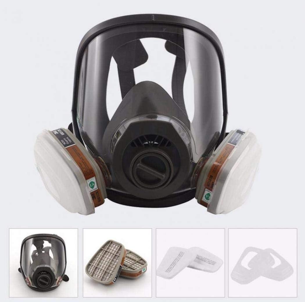 Antiempañamiento, máscara completa, máscara de protección respiratoria, máscara de gas, para pintura en aerosol, máscara de la malma, máscara de polvo y productos químicos
