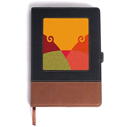 Amazon Com Journal Man Abstractgeometric Design With