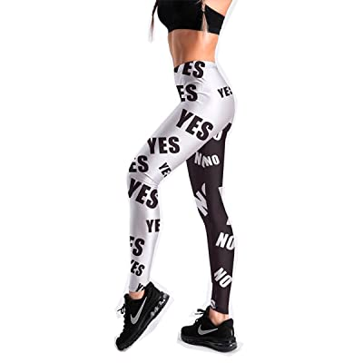 SiGaMEN Women's Yoga High Waist Leggings Workout Sports Pants Fitness Exercise Tights