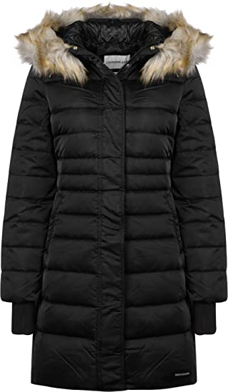 54c2ae0f7 Calvin Klein Jeans Mid Weight Long W Down Jacket: Amazon.co.uk: Clothing
