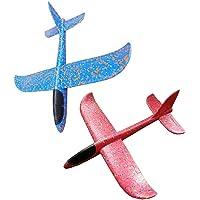 Tangger Vliegtuig Kind,2 PCS Handmatig Gooien Schuim Vliegtuig Speelgoed,Vliegtuigspeelgoed Buitensporten Vliegend…