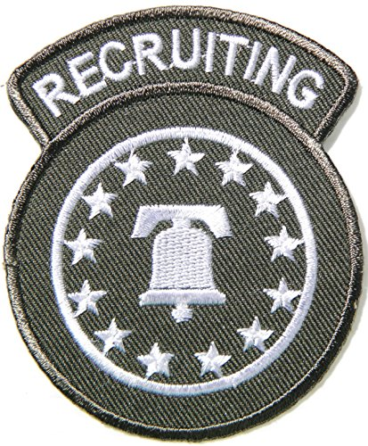 RECRUITING Command US Navy USN Army Military Logo Tab Jacket Uniform Patch Sew Iron on Embroidered Sign Badge Costume