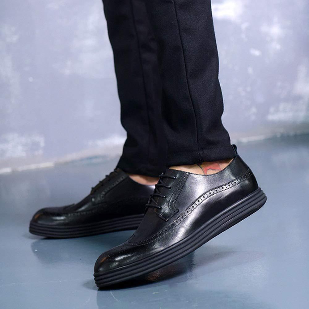 HWG-GAOYZ Schuhe Herren Martin Martin Martin Stiefel Frühlings-Herbst Schnitzte Beiläufige Werkzeuglederschuhe Rutschfestes Breathable,schwarz-38 d73ed8
