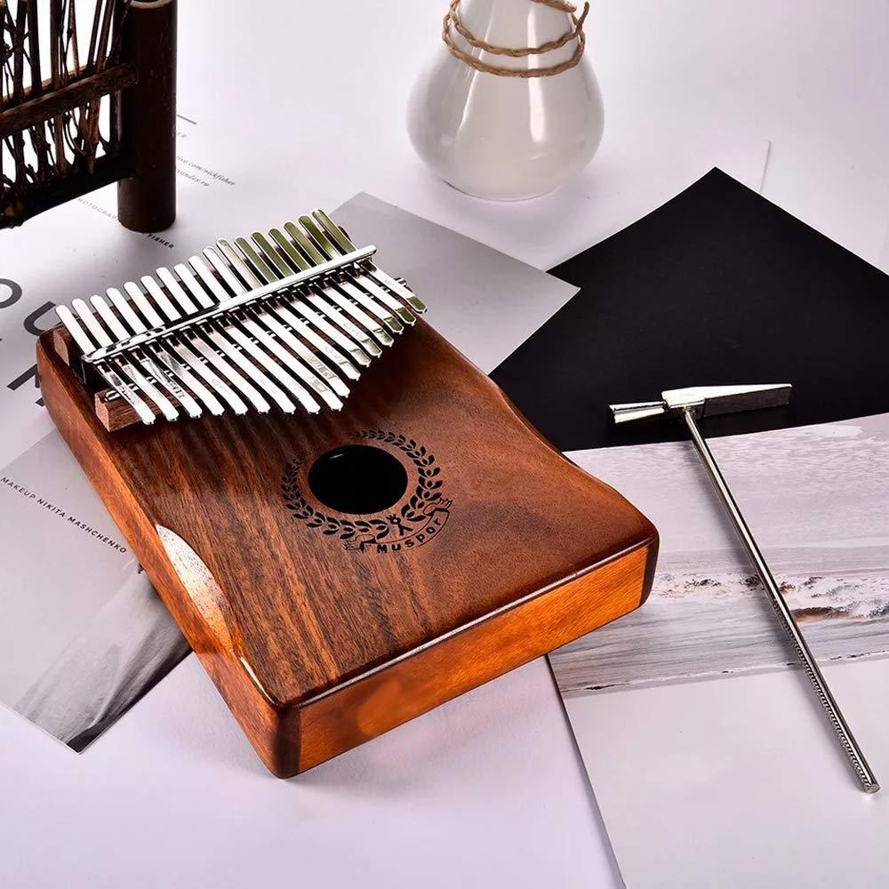 Kalimba 17 Tasti Professionale in Legno Massello KOA Thumb/Finger Piano, Portatile Mbira Inclusi Musica Libro Martello di Sintonia Borsa per Trasporto Custodia Protettiva di Pollice-Muspor