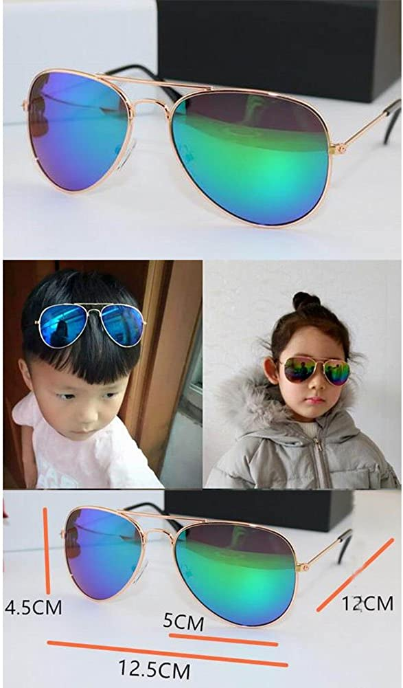 Green Kids Stylish Sunglasses Childrens Sunglasses Anti-UV Sunglasses