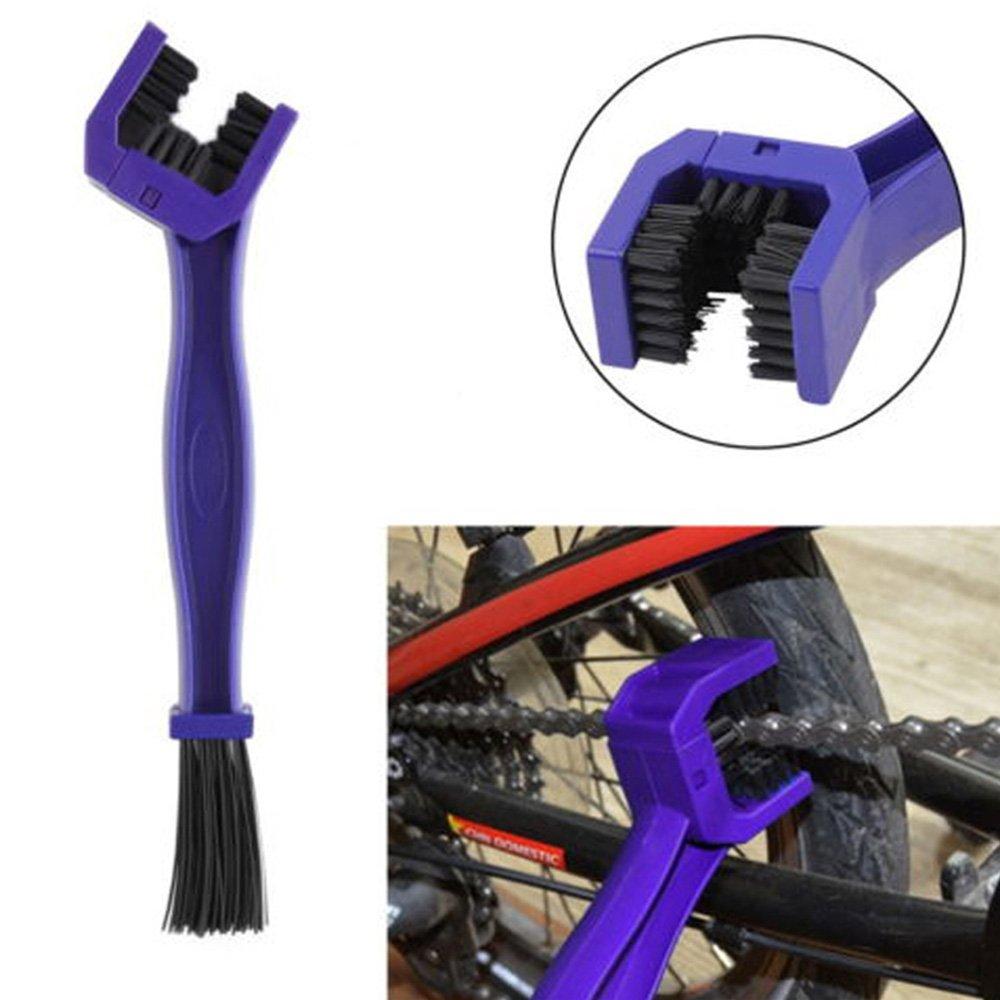 Luniquz Brosse de Nettoyage de Vé lo Moto Outil de Nettoyage de la Chaî ne(Bleu)