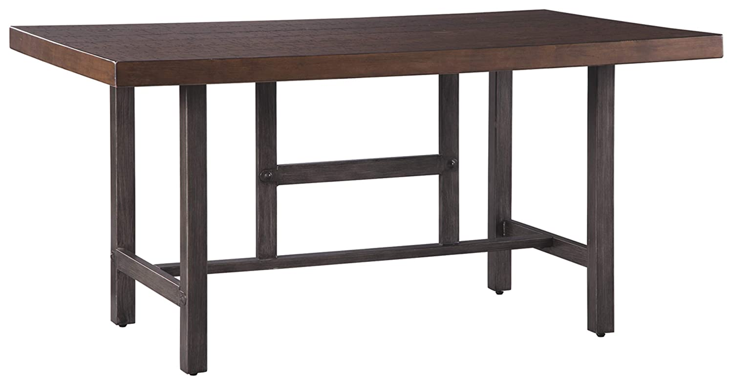 "Signature Design by Ashley D469-25 Kavara Dining Tables, 36.00"" W x 60.00"" D x 30.00"" H, Medium Brown"
