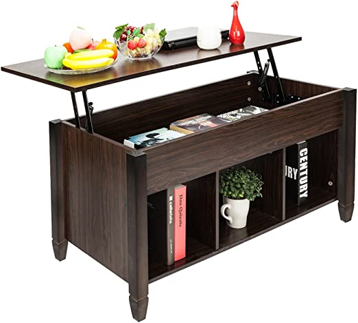 Amazon Com Knocbel Lift Top Coffee Table With Hidden Storage