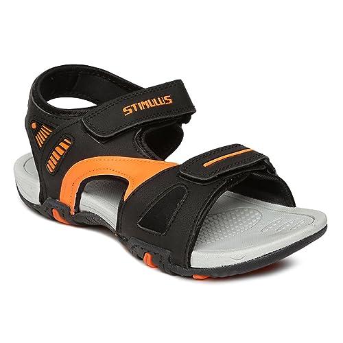 94fcae543 PARAGON Stimulus Men s Black Sandals  Buy Online at Low Prices in India -  Amazon.in