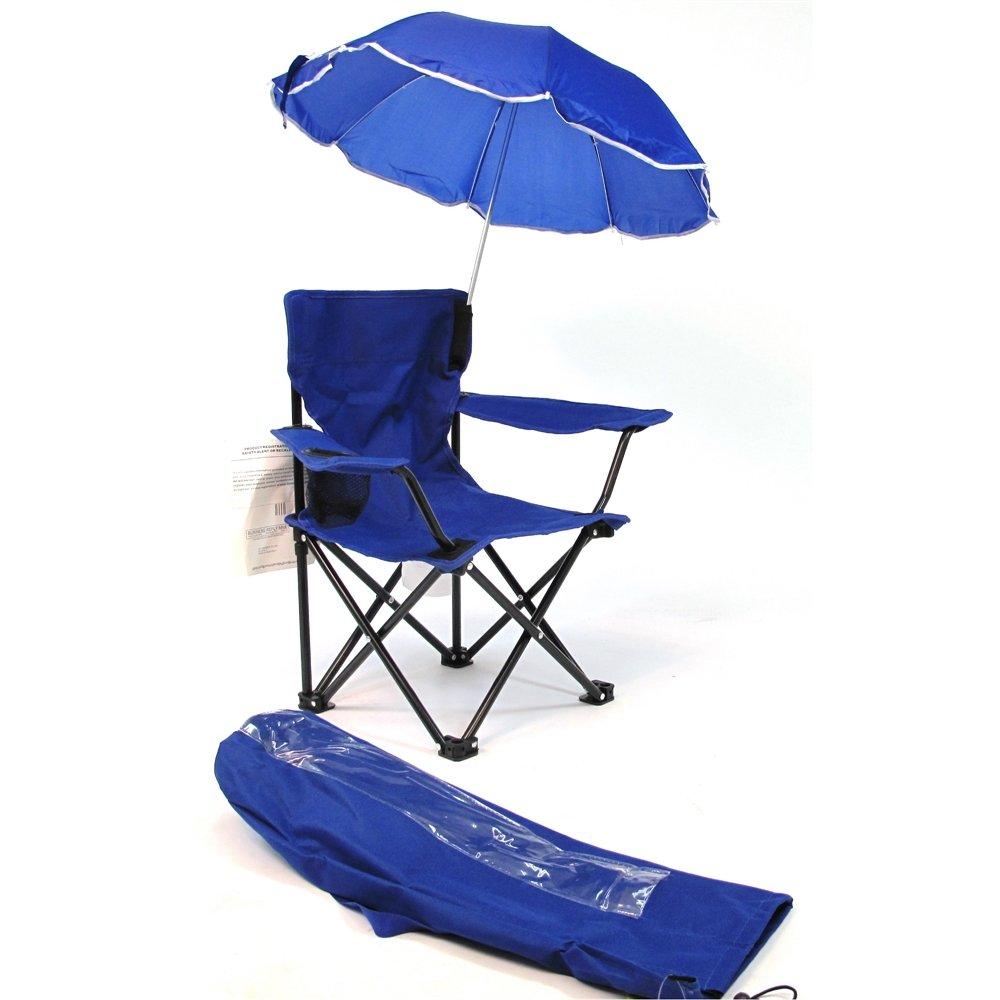 Redmon Umbrella Camping Chair with Matching Shoulder Bag, Royal Blue