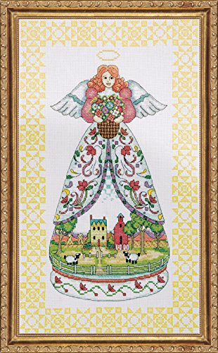 Tobin DW2811 14 Count Counted Cross Stitch Kit, 9 by 15-Inch, Summer Angel-Jim Shore ()