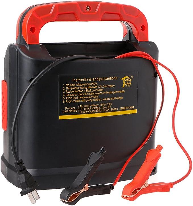 Anjuley 350 W 14 A Auto Plus Regolatore LCD Caricatore di Batteria 12 V-24 V Avviatore di Auto Portatile Avviatore