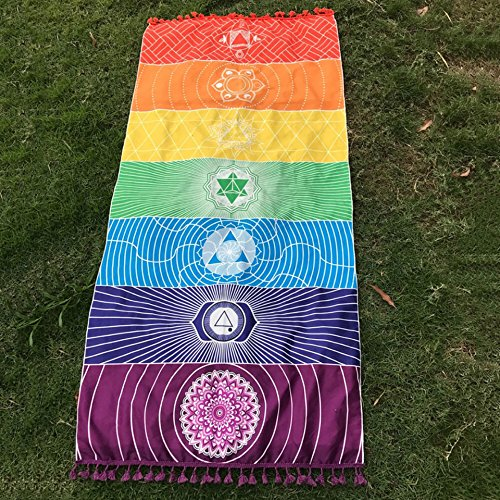 Yoga Towel Chakra: Beach Towel Yoga Mat Bohemia Wall Hanging India Mandala