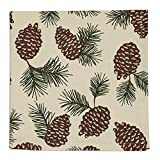 Design Imports Mountain Pine Cotton Table Linens, Napkin 20-Inch by 20-Inch, Pinecone Print