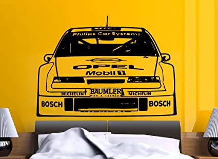 Streetwall Pared Adhesivo Opel Calibra 1994 DTM, Negro, X-Large