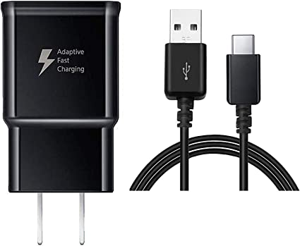 Baoota Quick Charge 3.0,USB Type-C Cable with Adaptive Fast Wall Charger Compatible for Samsung Galaxy S8 S8 Plus S9 S9 Plus,LG G6 G5 V30 V20 Google Pixel 2 Nexus 5X 6p