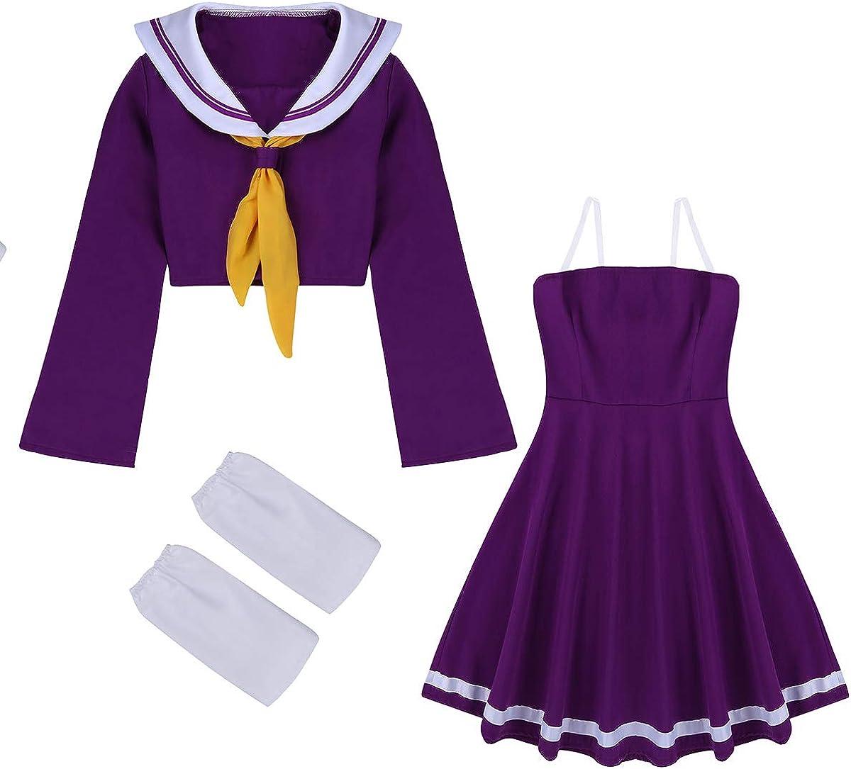 TiaoBug 4Pcs Disfraz de Anime Mujer Cosplay de Marinero Chica Mujer para Fiesta Halloween Carnaval Actuaci/ón Cumplea/ños Fotograf/ía