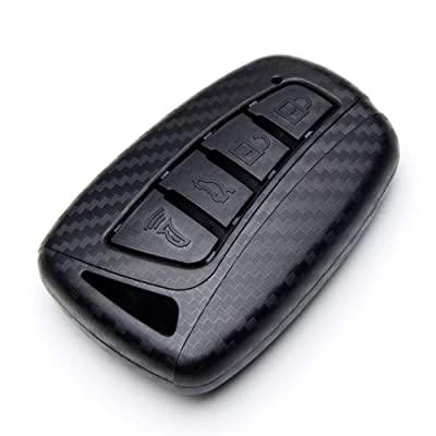 TANGSEN Smart Key Fob Case for Hyundai Azera EQUUS Genesis Santa FE Sport 4 Button Keyless Entry Remote Personalized Protective Cover Plastic Carbon Fiber Texture: Automotive