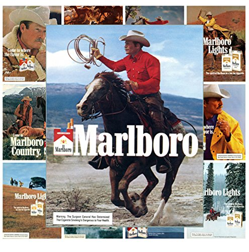 Mini Posters Set [13 posters 8x11] Cowboy Marlboro Land # Ads Posters Reprint
