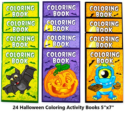 Food Ideas For Preschool Halloween Party (Neliblu Halloween Character Fun Coloring Activity Books Halloween Treats for Treat or Treaters, Halloween Party Supplies Non Candy Halloween Treat Alternative (Pack of)