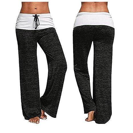 Womens Soft Yoga Lounge Sport Wide Leg Casual Loose Long Fitness Pants Trousers