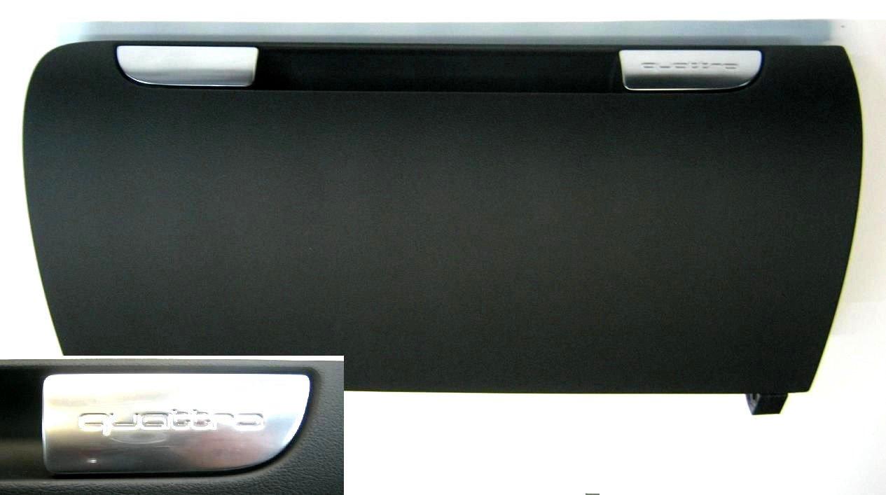Originale Audi A3/S3/RS3/8P con quattro Emblem coperchio Soul Nero vano portaoggetti
