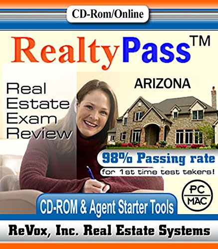 2018 Arizona VUE Realty Pass Real Estate Exam Prep Study Guide Questions and Answers Interactive Software