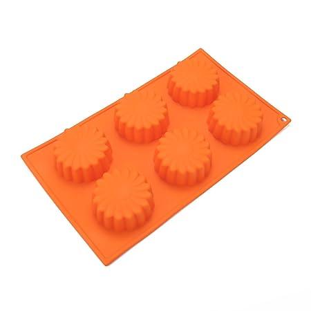 PingZhi G-134 6-cavidad Oval silicona molde para jabón, torta, pan ...