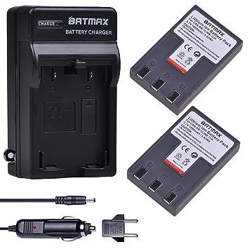 Amazon.com: Batmax NB-1LH - Juego de 2 baterías y cargador ...