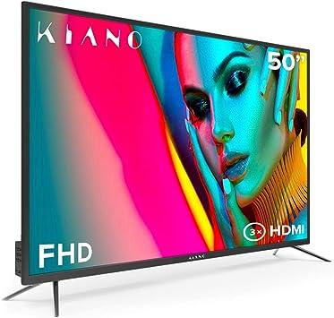 Televisor Kiano Slim TV 50 Pulgadas [127 cm Full HD] (Triple Tuner, DVB-T2, Ci+)