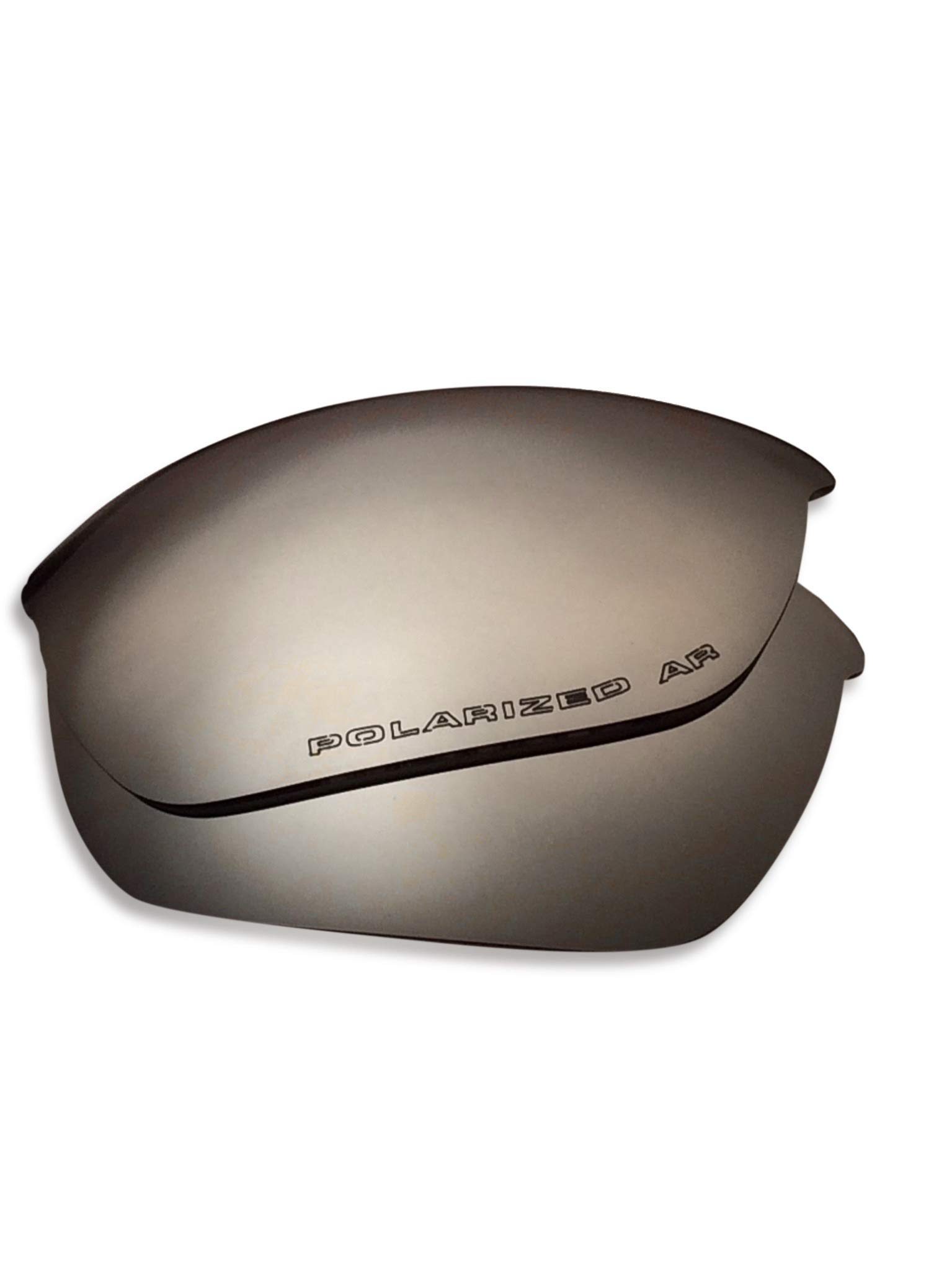 Oakley Half Jacket 2.0 Replacement Lenses (Dark Silver Mirror) - Polarized, 1.4 mm Thick, AR Coated, Added UV Protection, Fits Perfectly, for Men & Women by Lens Swap