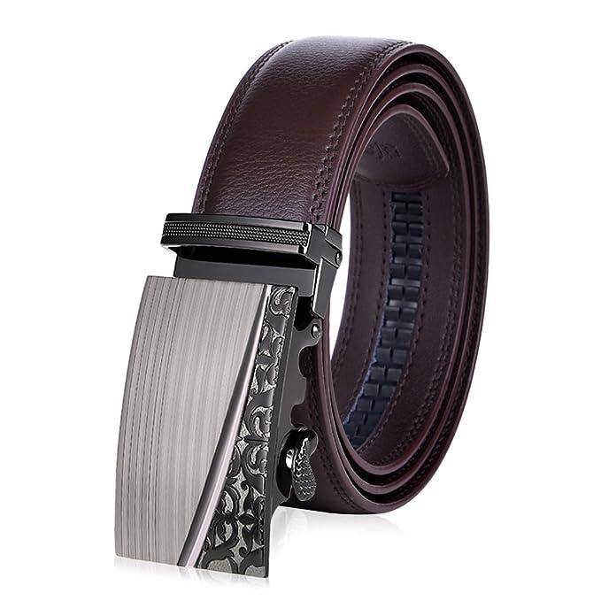 VBIGER Cinturón Cuero Cinturones Hebilla Automática (un tamaño ... d2ae1ebb1a60