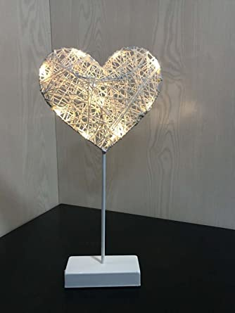 Beautiful Star Heart Shape Grass Rattan Woven Led Night Light Battery Power Girls Bedroom Decorative Table Lamp Making Things Convenient For The People Led Table Lamps