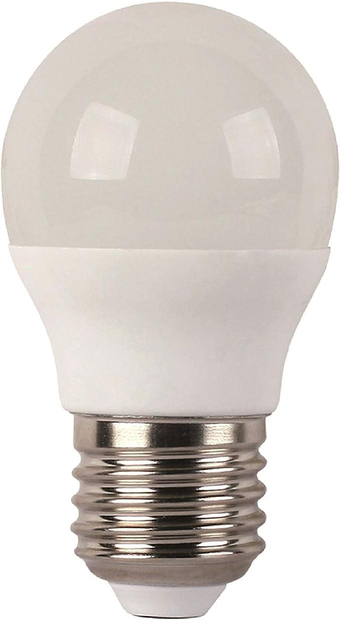 F-BRIGHT ECO Bombillas LED 6W=40W Blanco cálido E27 Pack de 5 ...