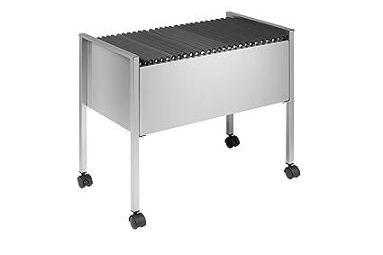 Durable File Trolley - Soporte para archivadores, plateado