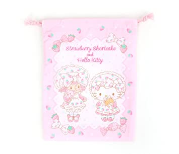 Amazon.com   Hello Kitty x Strawberry Shortcake Drawstring Bag   Beauty 9ef3fc70f05d2
