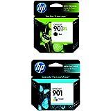 HP 901XL Black High Yield & HP 901 Tri-Colour Original Ink Cartridges 2 Cartridge Bundle (CC654AN + CC656AN)