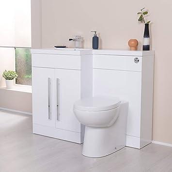 Gut gemocht Aquariss Calm Möbel-WC-Set in weiß mit Integriertem Spülkasten und HH65