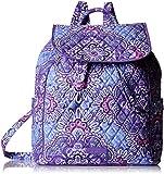Vera Bradley Women's Drawstring Backpack, Lilac Tapestry