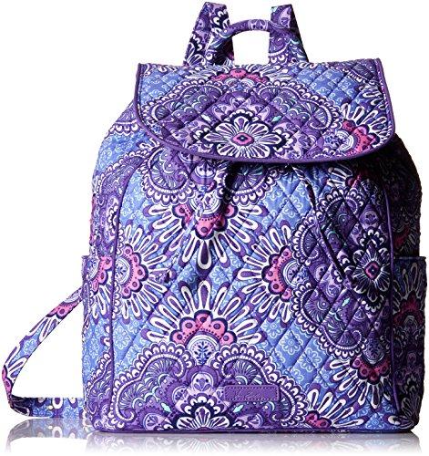 (Vera Bradley Women's Drawstring Backpack, Lilac Tapestry)