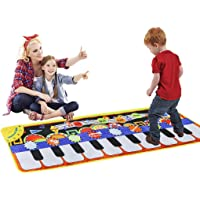 Cyiecw Piano Music Mat, Keyboard Play Mat Music Dance Mat with 19 Keys Piano Mat, 8 Selectable Musical Instruments Build…