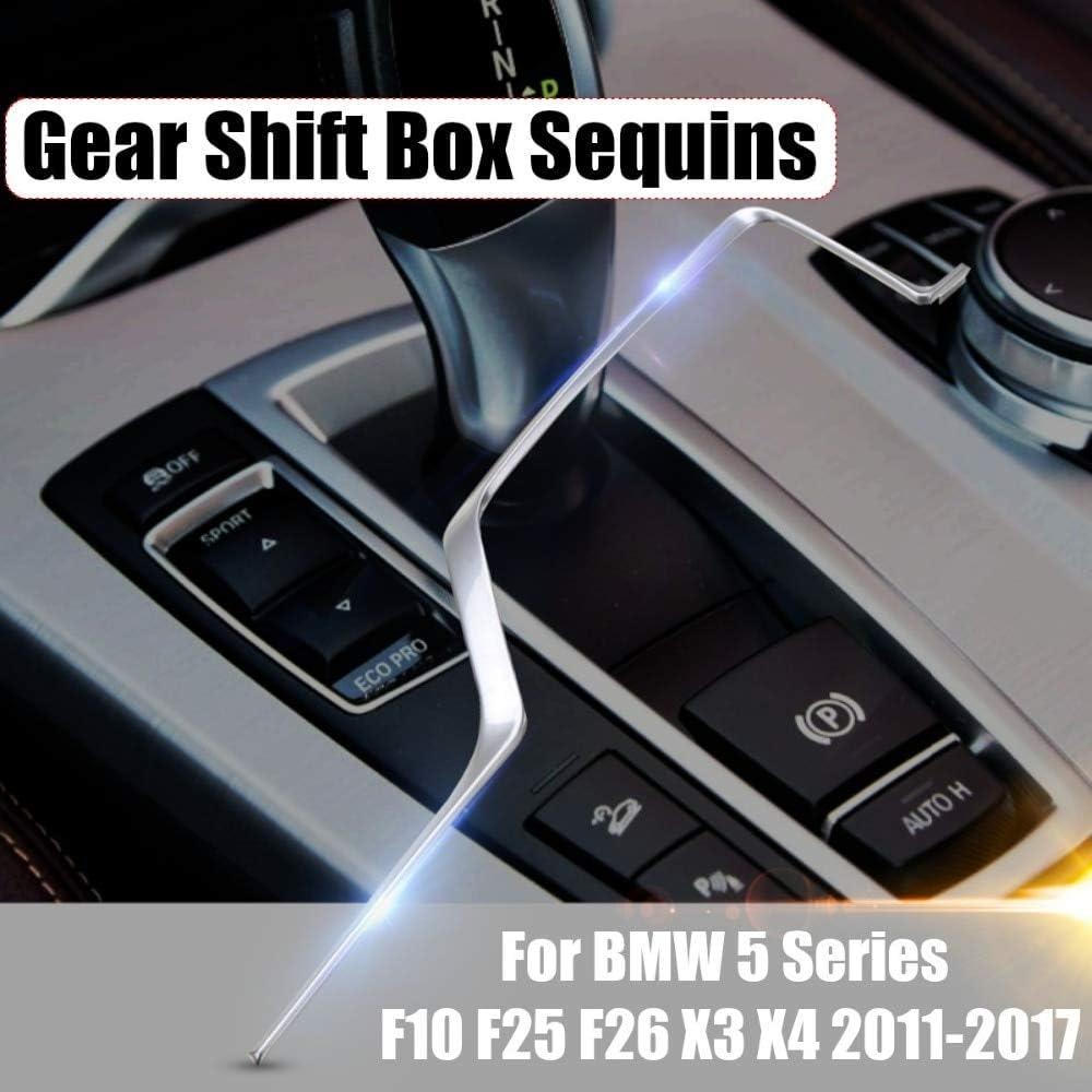 Pegatina cromada para caja de cambios de coche con lentejuelas para BMW Serie 5 F10 F25 F26 X3 X4: Amazon.es: Bricolaje y herramientas