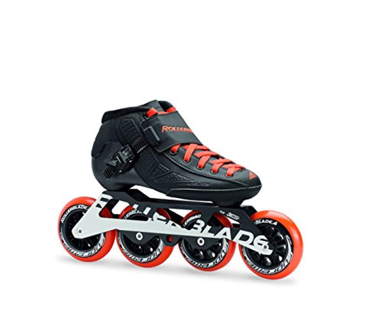 Rollerblade Powerblade JR Skates Black/Orange 22.5 & Headband Bundle