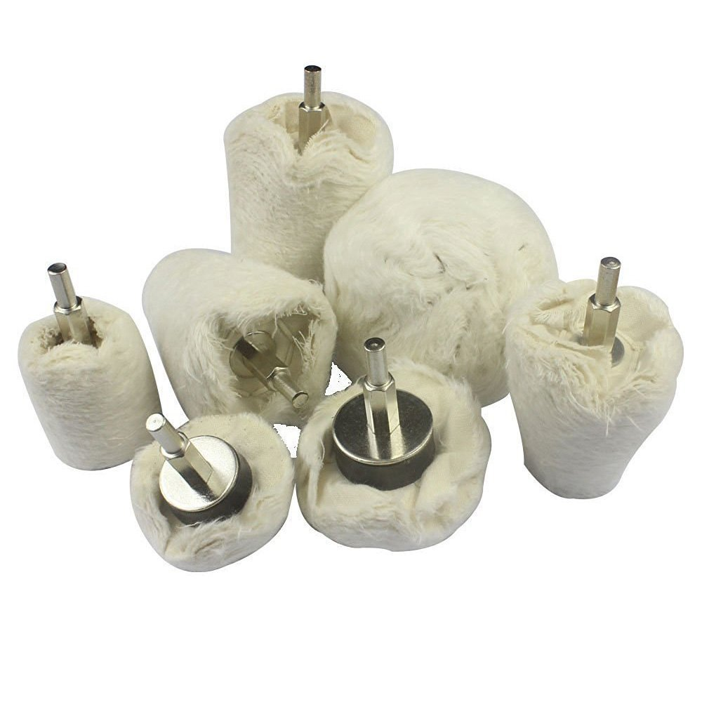 Luoke Rotary Tools Supplies,Polish Buffing Wheels Tools for Leather,Aluminum,Steel,Chrome