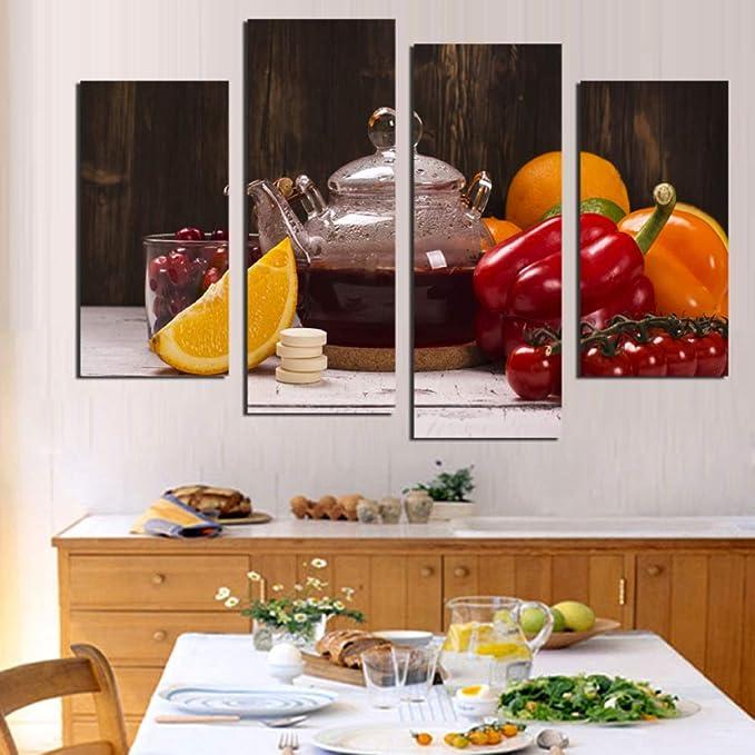 WSNDGWS Decoración del hogar Lienzo Pintura Cuatro condimentos ...