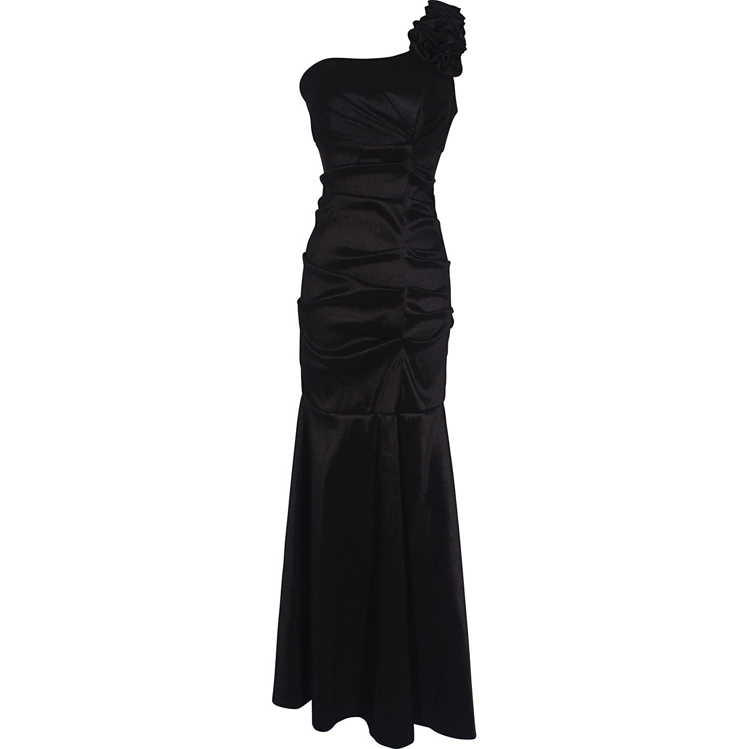 One-Shoulder Trumpet Taffeta Long Prom Dress Bridesmaid Gown at Amazon Womens Clothing store: Prom Dresses For Juniors