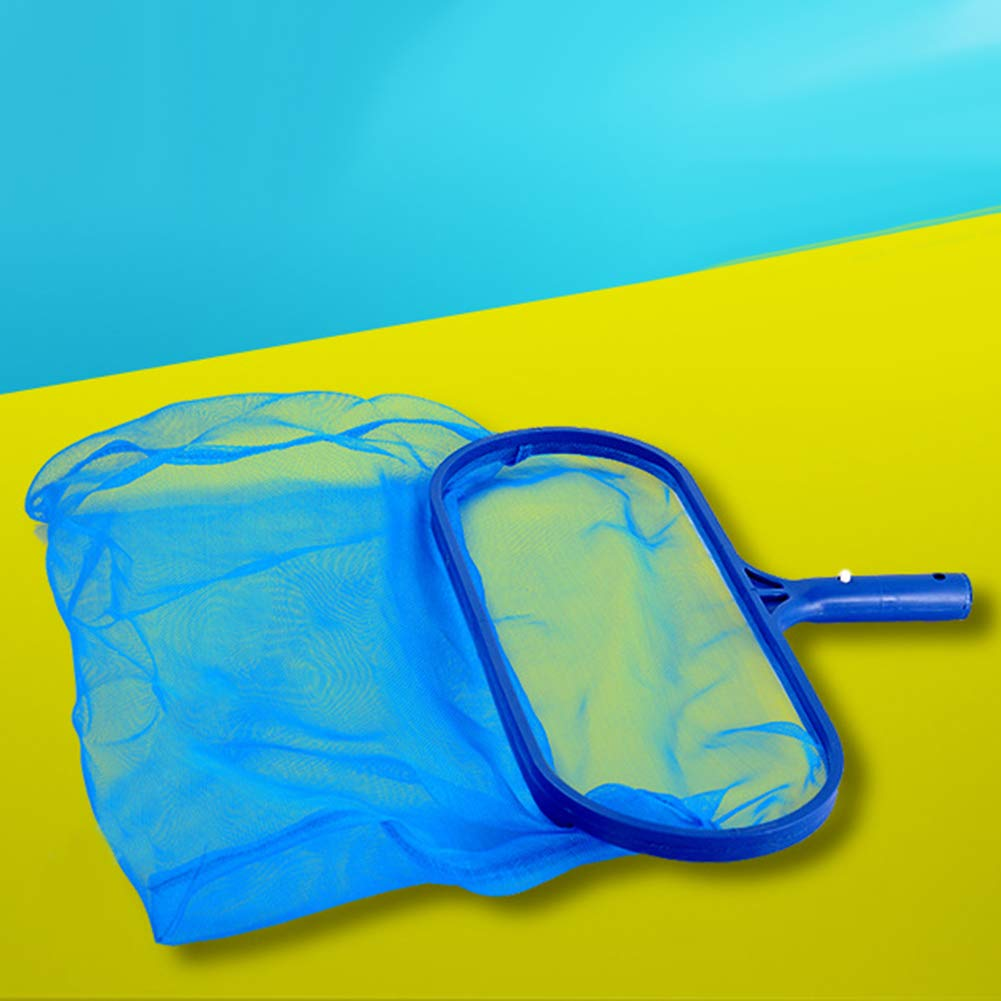 AT27clekca Leaf Skimmer Garden Tools Skimmer Plastic Leaf Rake Mesh Net Deep Bag Skimmer Swimming Pool Pond Spa Cleaning Tool